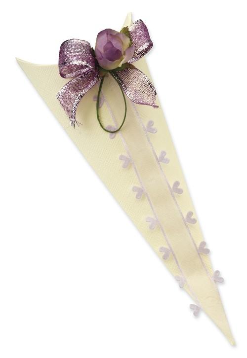 Ivory Silk Confetti Cone