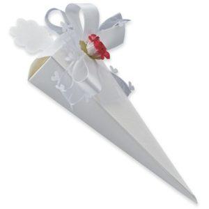 White Silk Cone BoxWhite Silk Cone Box