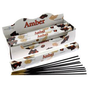 Stamford Hex Incense Sticks - Amber