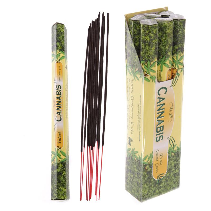 Tulasi Giant Garden Incense Sticks - Cannabis