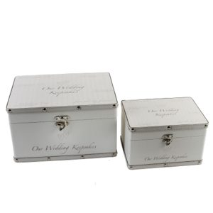 Luggage Series Set of 2 Boxes Our Wedding Keepsake BoxLuggage Series Set of 2 Boxes Our Wedding Keepsake Box