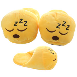 ZZZ Open Back Emotive Pair of Unisex Slippers
