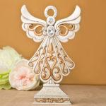 Magnificent Antique Design Angel Statue in Ivory And Matte GoldMagnificent Antique Design Angel Statue in Ivory And Matte Gold