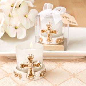 Vintage Cross Themed Candle VotiveVintage Cross Themed Candle Votive