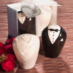 Stylish Ceramic Bride And Groom Salt And Pepper ShakersStylish Ceramic Bride And Groom Salt And Pepper Shakers