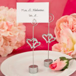 Love Themed Double Heart Design Place Card Holder Or Photo HolderLove Themed Double Heart Design Place Card Holder Or Photo Holder