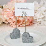 Heart Themed Silver Glitter Place Card Holder From SolefavorsHeart Themed Silver Glitter Place Card Holder From Solefavors