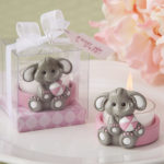 cute baby elephant with pink design tea light holdercute baby elephant with pink design tea light holder