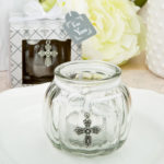 Cross Themed Clear Glass Round Globe Candle Holder From SolefavorsCross Themed Clear Glass Round Globe Candle Holder From Solefavors