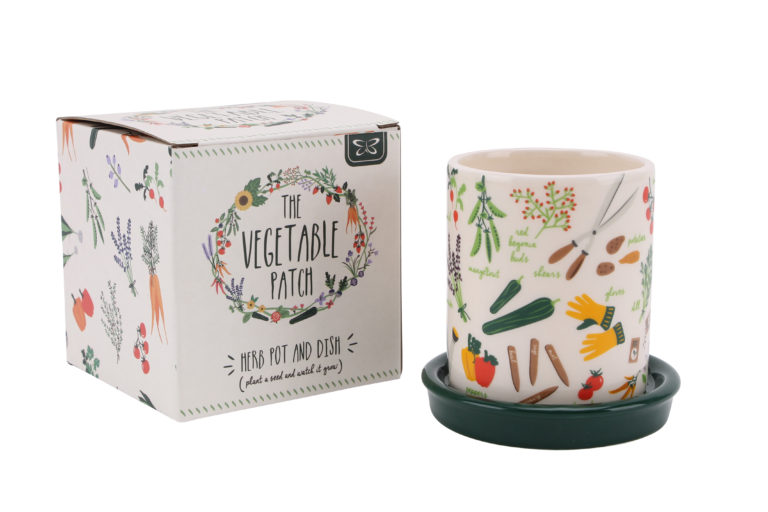 Vegetable Patch Herb Pot & Dish