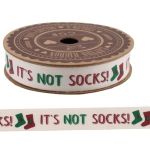 It's Not Socks!' 5M Cotton RibbonIt's Not Socks!' 5M Cotton Ribbon