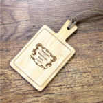 Personalised Mini Wooden Cheese Board Crest DesignPersonalised Mini Wooden Cheese Board Crest Design