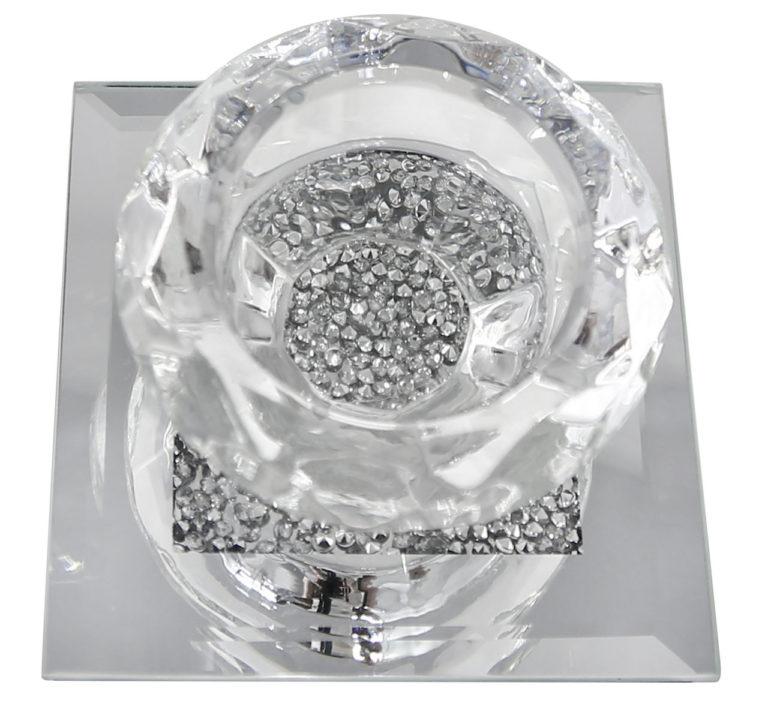 Single Knightsbridge Gem Tealight Holder Silver