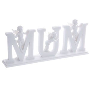 MUM Cherub Letters on PlinthMUM Cherub Letters on Plinth