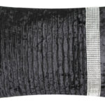 Crushed Velvet Band Cushion BlackCrushed Velvet Band Cushion Black