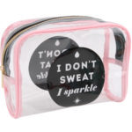 I Don't Sweat, I Sparkle Cosmetic BagI Don't Sweat, I Sparkle Cosmetic Bag