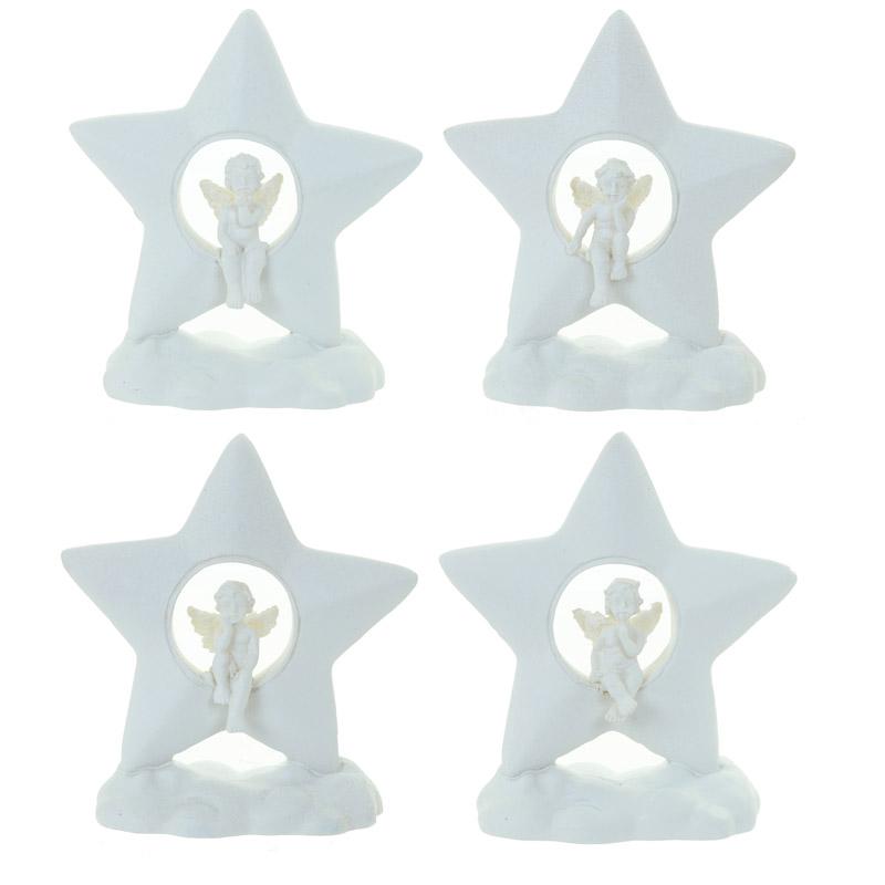 Decorative Collectable Cherub Figurine – Cloud and Star
