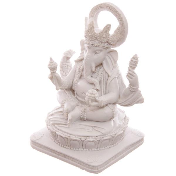 Decorative White Ganesh Figurine