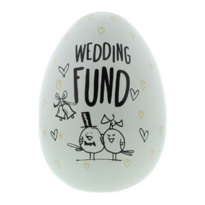 Eggcellent Large Nest Egg White And Gold Wedding FundEggcellent Large Nest Egg White And Gold Wedding Fund