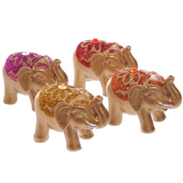 Mini Metallic Glitter Lucky Elephant Collectable