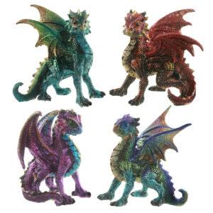 Elements Fantasy Nightmare Dragon Figurine