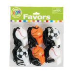 Pack of 6 Sports Ball Whistles