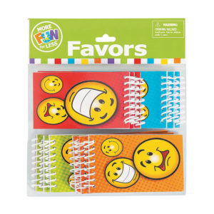 Pack of 12 Paper Smiley Face Spiral NotepadsPack of 12 Paper Smiley Face Spiral Notepads