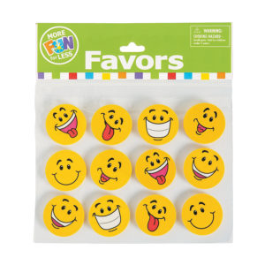 Pack of 24 Large Smiley Face ErasersPack of 24 Large Smiley Face Erasers