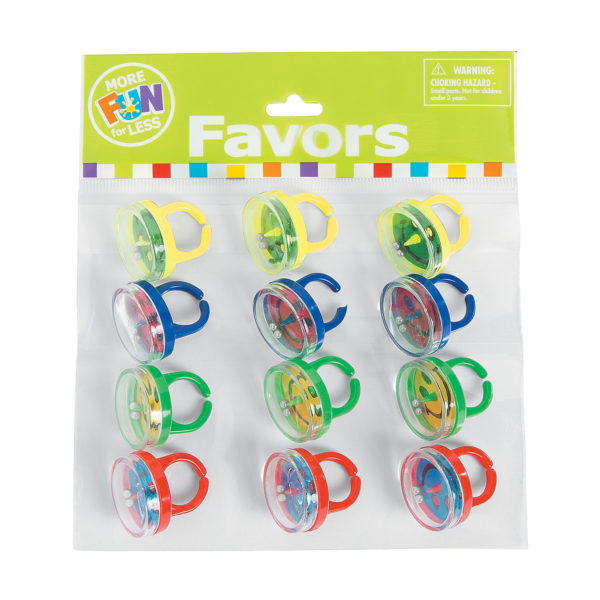 Pack of 12 Smiley Pill Puzzle Rings