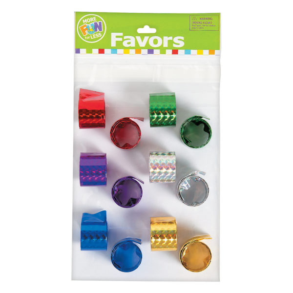 Pack of 12 Metallic Slap Bracelets