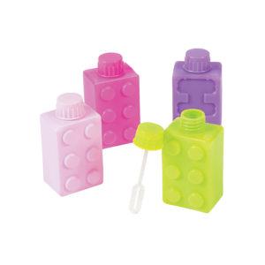 Pack of 12 Pastel Color Brick Party Bubble BottlesPack of 12 Pastel Color Brick Party Bubble Bottles