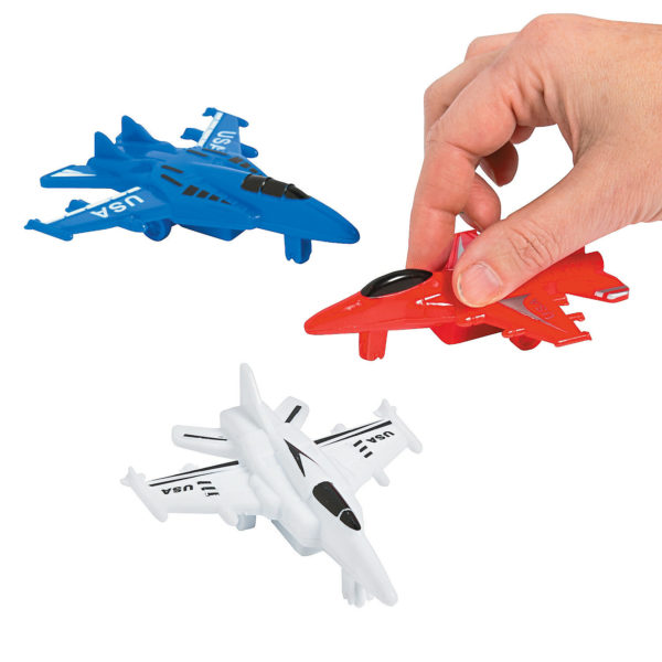 Set of 3 USA Fighter Jet Pullback Racers