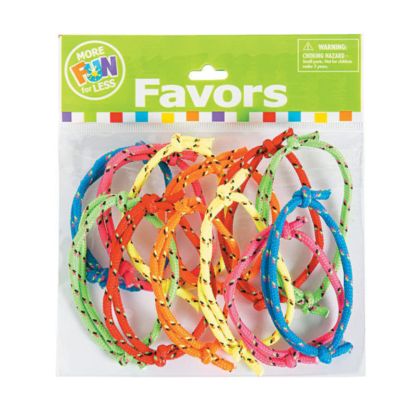 Pack of 12 Nylon Friendship Rope Bracelets