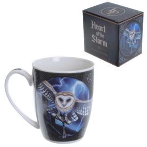Fantasy New Bone China Mug - Owl and Lightning