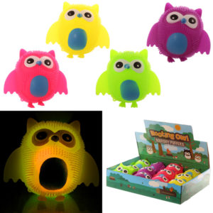 Fun Kids Squishy Light Up Novelty Owl