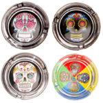 Fun Multicoloured Day of the Dead Candy Skull Ashtray