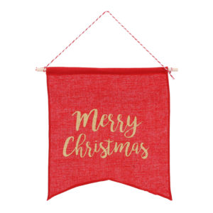 Merry Christmas Hanging FlagMerry Christmas Hanging Flag