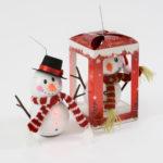 Snowman LED Bauble 2 AssortedSnowman LED Bauble 2 Assorted