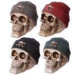 Gruesome Skull Beanie Hat Ornament