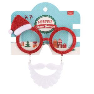Santa Beard & Hat Novelty Christmas GlassesSanta Beard & Hat Novely Glasses