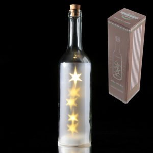 White Decorative Bottle with LED LightsWhite Decorative Bottle with LED Lights