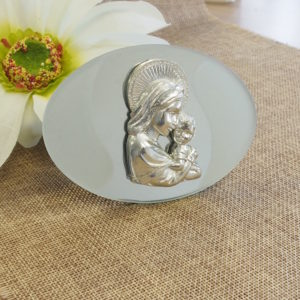 *CLEARANCE* Oval Madonna and Child Icon*CLEARANCE* JL-  Oval Madonna and Child Icon