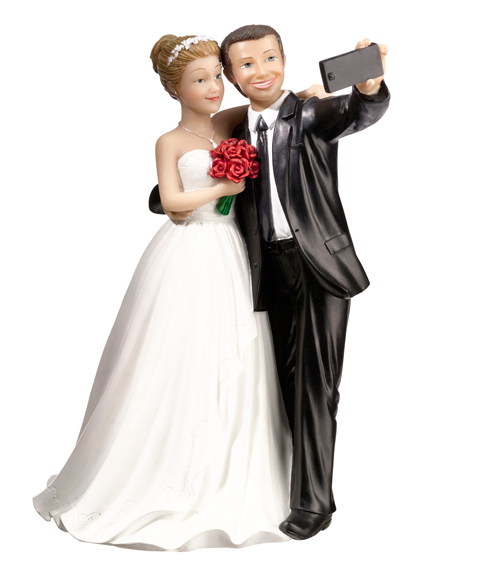 Selfie Couple Cake top Figurine