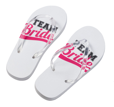 Team Bride Flip Flops Small