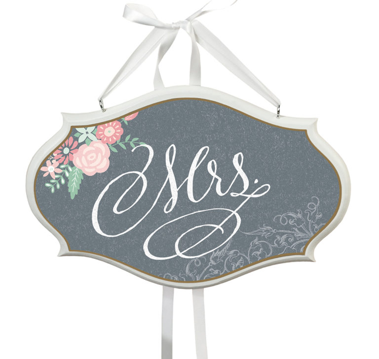Mrs. Small Oval Wooden Sign Black