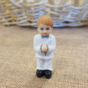 *CLEARANCE* Communion Boy Standing with rosary - Small*CLEARANCE* Communion Boy Standing with rosary - Small