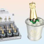 Champagne Bottle in Wine Cooler CandleChampagne Bottle in Wine Cooler Candle