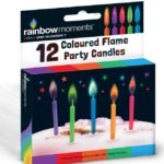 12 Coloured Flame Party Candles12 Coloured Flame Party Candles