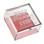 Personalised Lasting Memories' Glass Trinket Box Best Mummy Ever'Lasting Memories' Glass Trinket Box - Best Mummy Ever