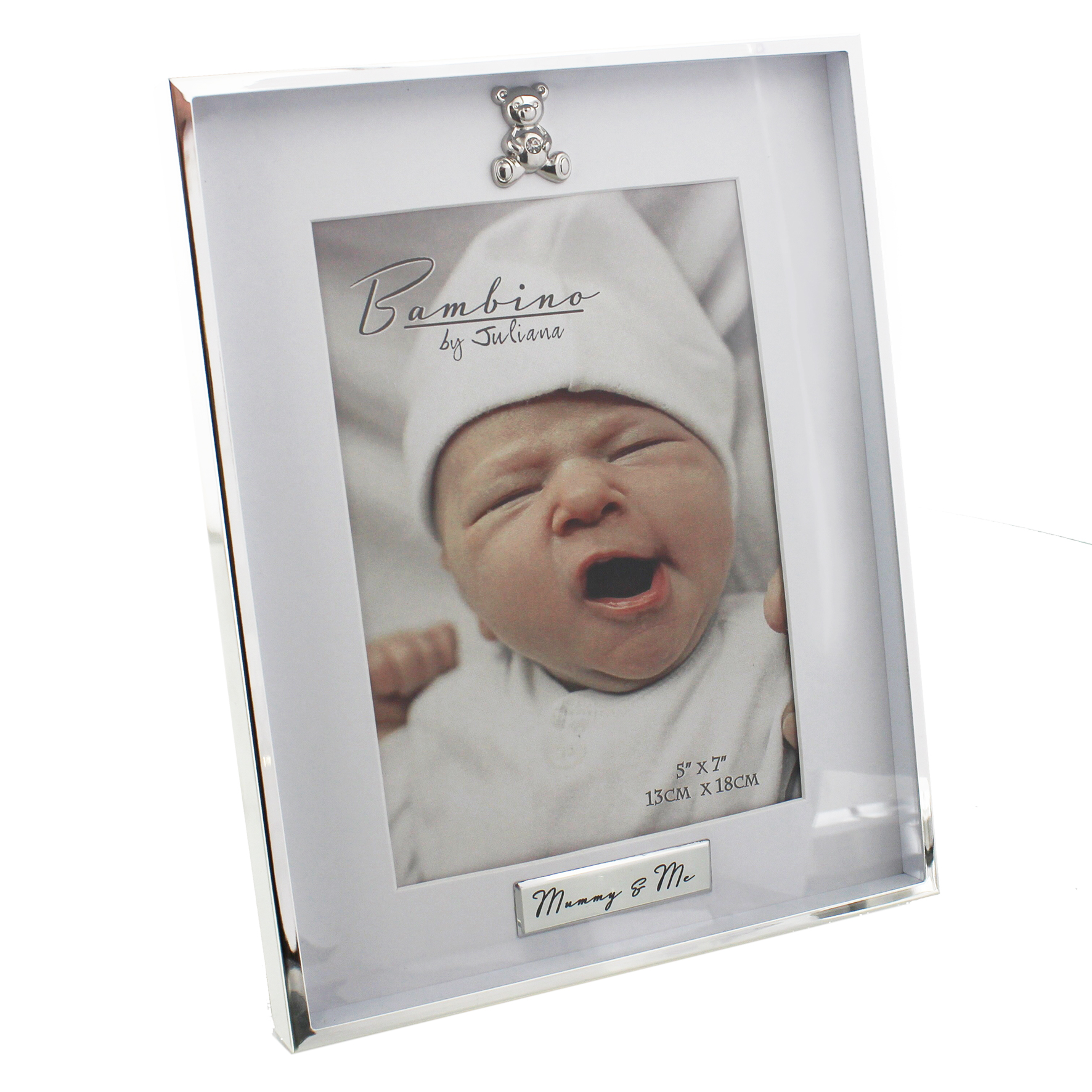Bambino Silver Plated Photo Frame Mummy And Me 5×7